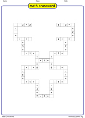 math crossword game logo